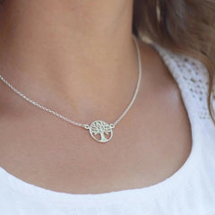 Personalised Silver Tree of Life Necklace