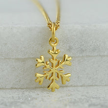 Children's Personalised Gold Plated Snowflake Necklace - Lily Charmed