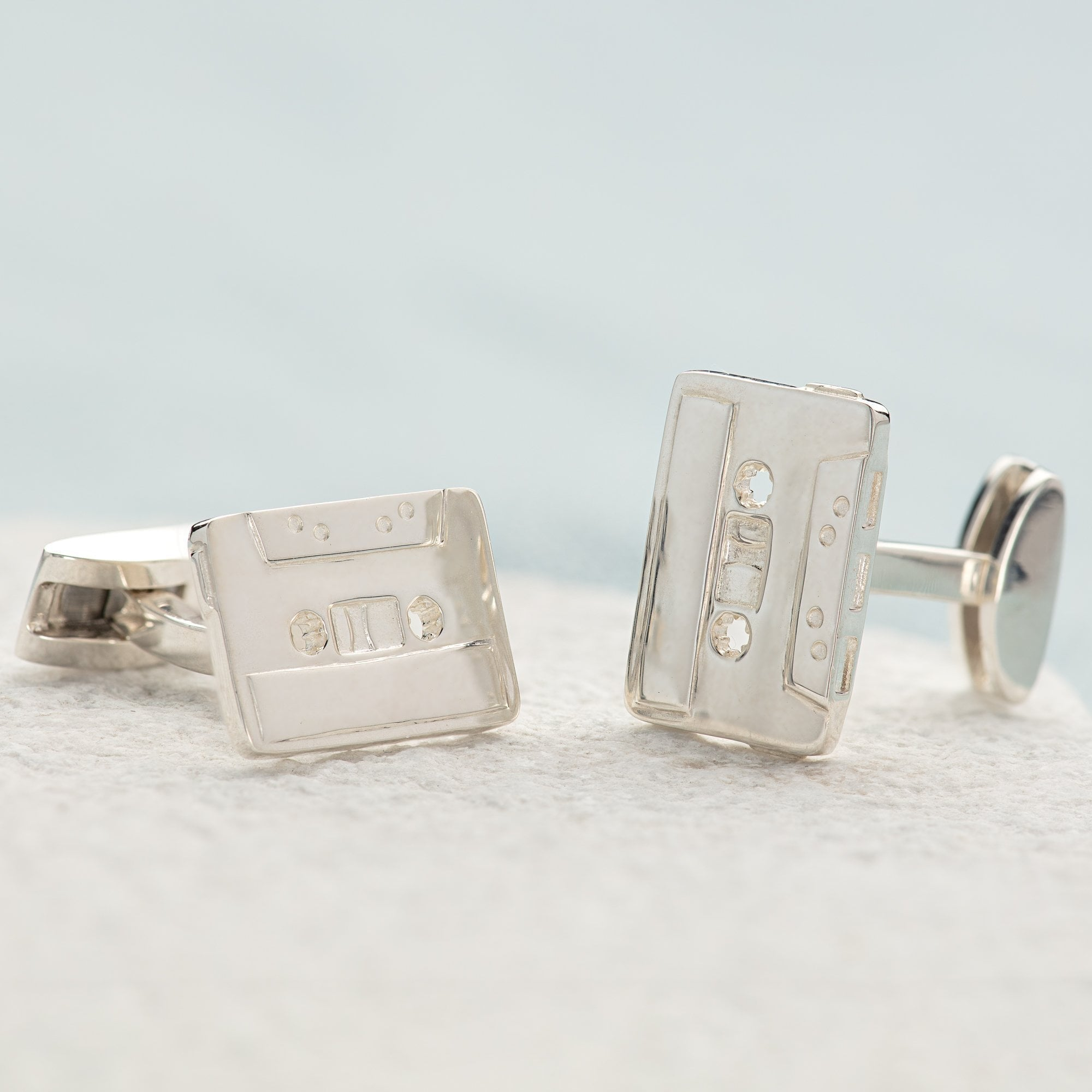 Silver Cassette Tape Cufflinks - Lily Charmed