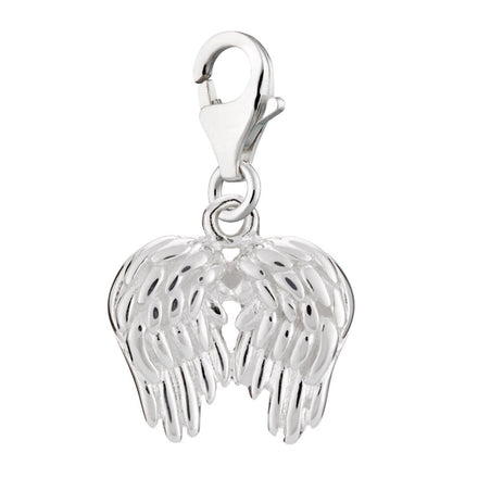 Silver Angel Wings Charm - Lily Charmed