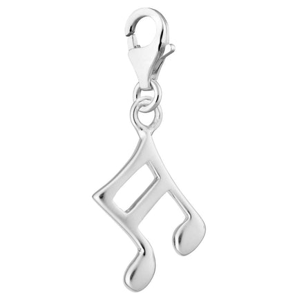 Silver Clip-on Music Note Charm with Lobster Clasp by Lily Charmed