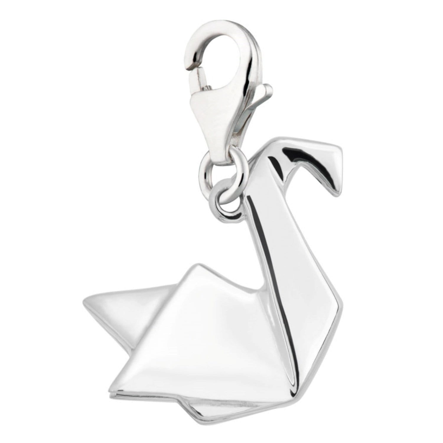 Silver Origami Swan Charm - Lily Charmed