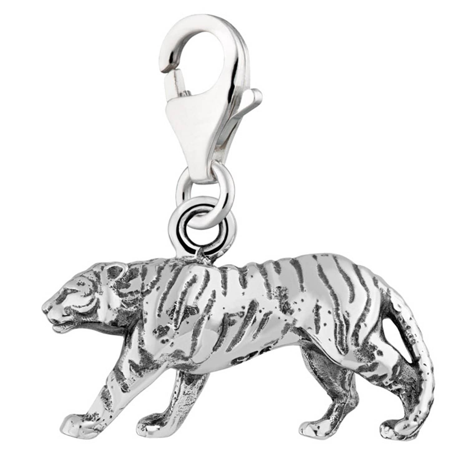 Silver Tiger Charm - Lily Charmed