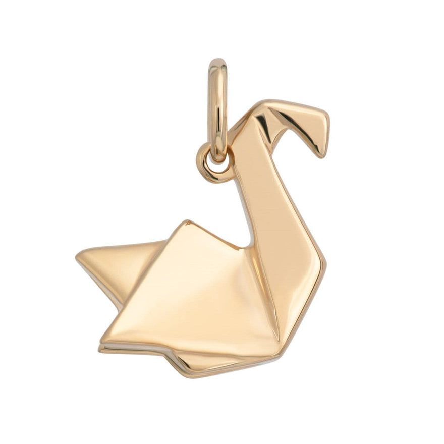 Gold Plated Origami Swan Charm - Lily Charmed