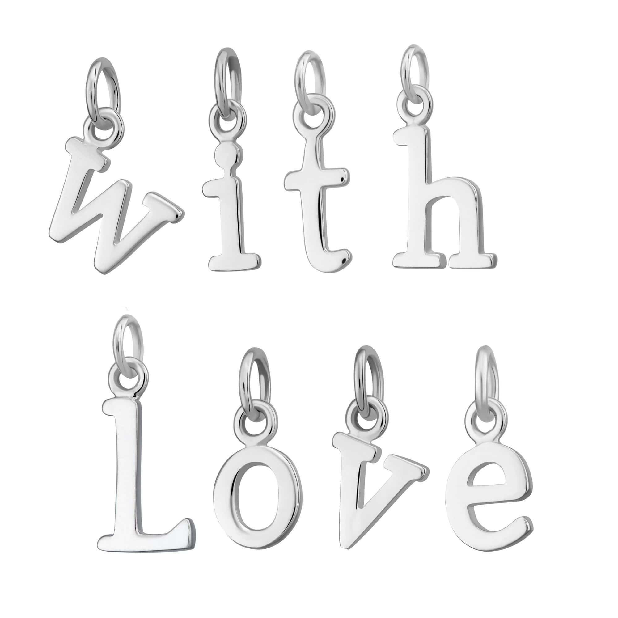 Silver Alphabet Charm - Lily Charmed