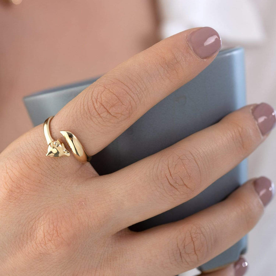 Gold Plated Fox Ring - Lily Charmed