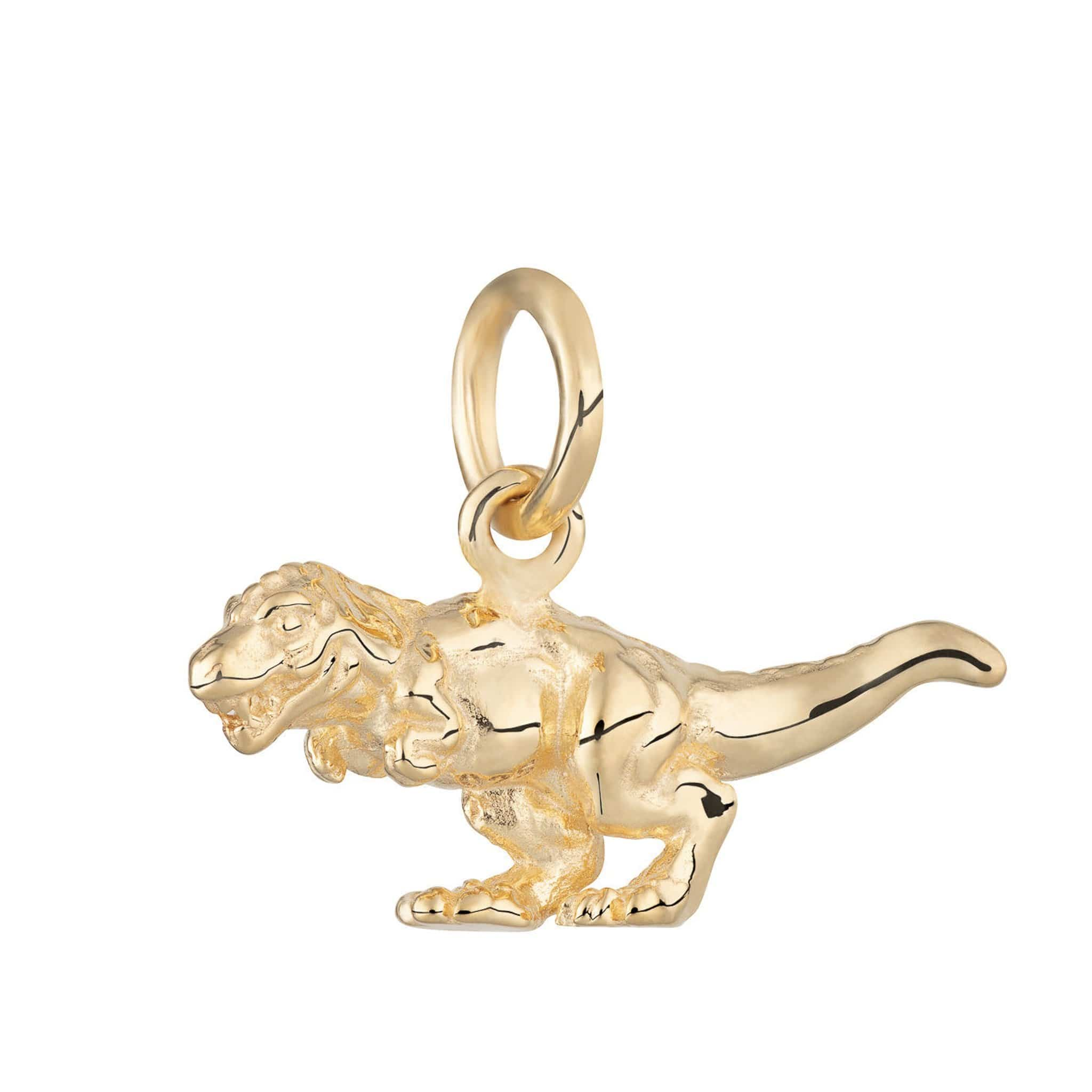 Gold Plated T-Rex Charm - Lily Charmed