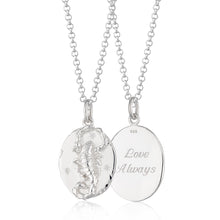 Engraved Silver Scorpio Zodiac Necklace - Lily Charmed