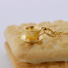 Personalised Gold Plated Teacup Necklace - Lily Charmed