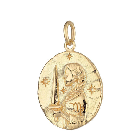 Gold Plated Virgo Zodiac Charm - Lily Charmed