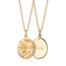 Engraved Gold Plated Sagittarius Zodiac Necklace - Lily Charmed