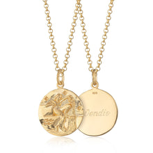 Engraved Gold Plated Aquarius Zodiac Necklace - Lily Charmed