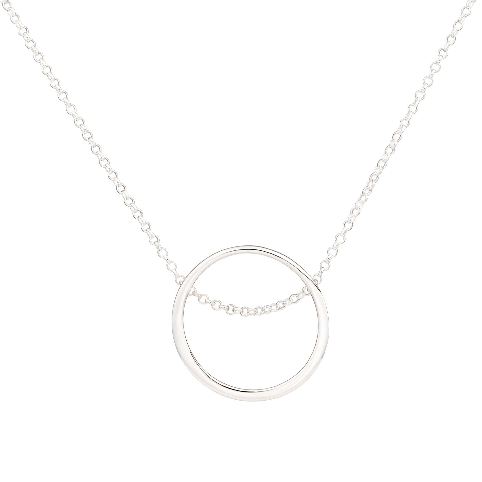 Personalised Silver Open Circle Necklace - Lily Charmed