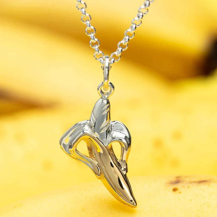 Personalised Silver Banana Necklace - Lily Charmed
