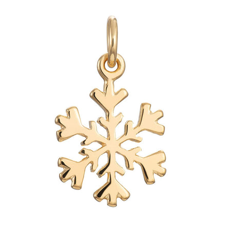 Gold Plated Snowflake Charm - Lily Charmed