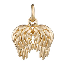 Gold Plated Angel Wings Charm - Lily Charmed