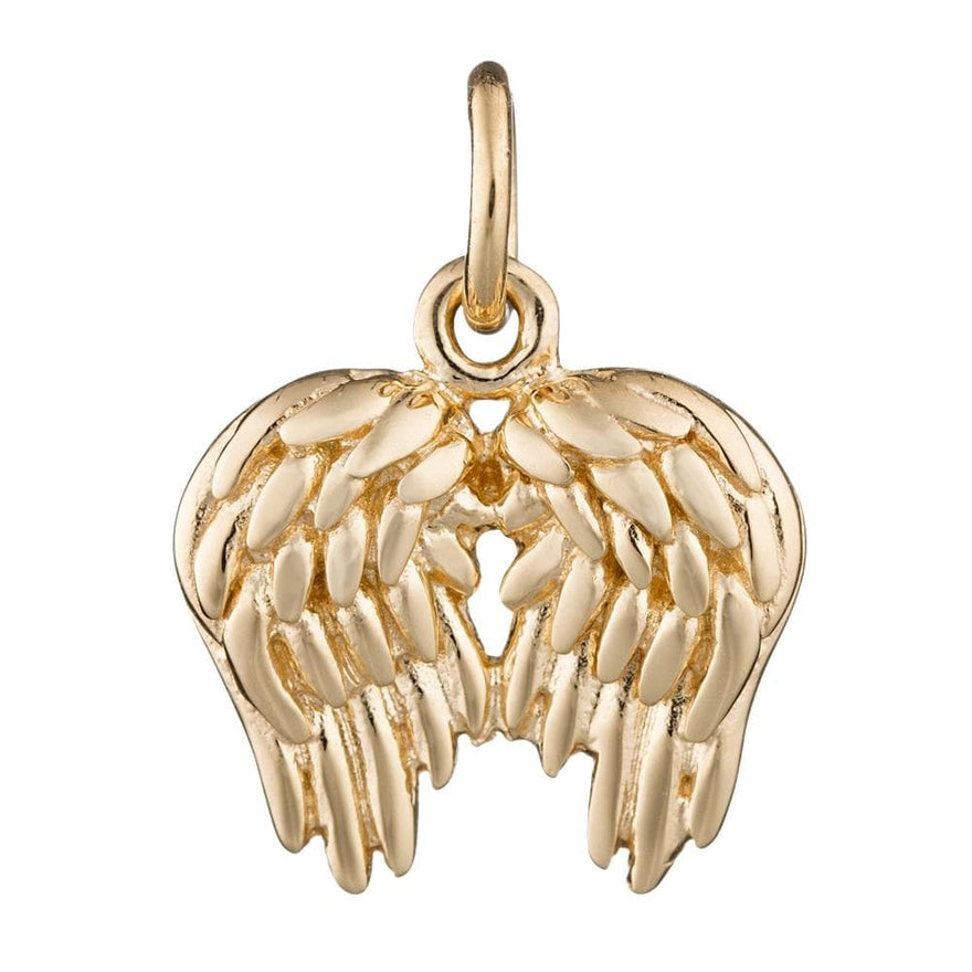 Gold Plated Angel Wings Charm
