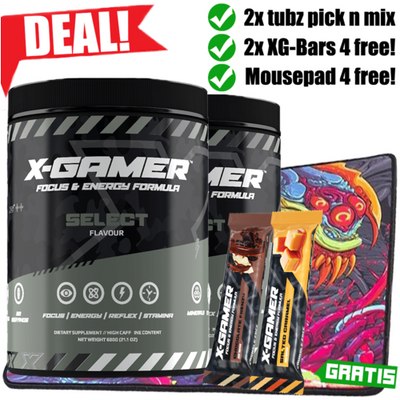 DEAL! PICK'N'MIX 2x TUBZ (2x XG-Bars og HYPERBEAST MOUSEPAD 4 FREE!)