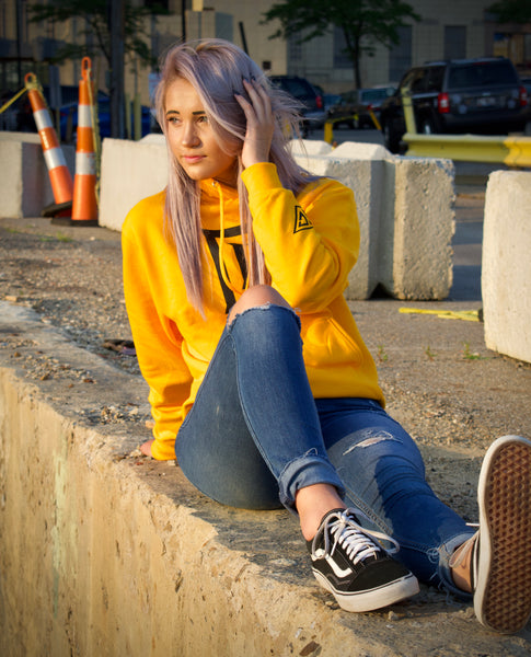 Never Settle Hoodie - Yellow
