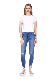 "Farrow Skinny High Rise Instasculpt Ankle in ""Rip Tide Distressed"""