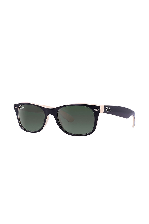 New Wayfarer Color Mix Black On Beige w/ G-15 GREEN NYLON MAN SUNGLASS