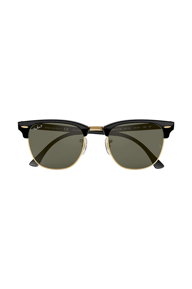 Clubmaster Classic in Black size 51 with g-15 green Lenses