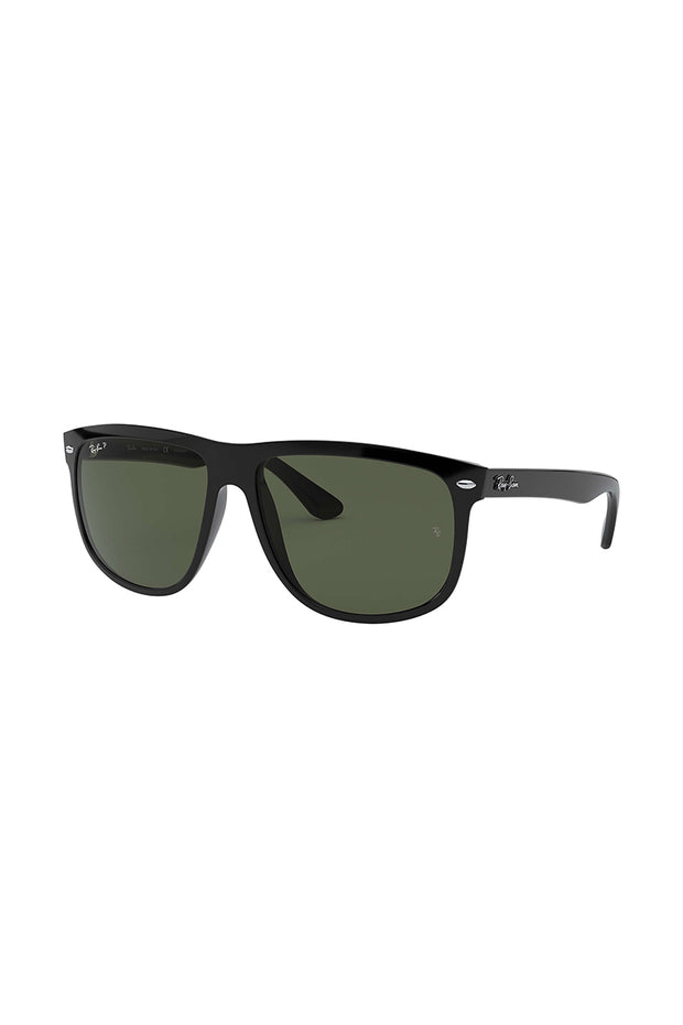 Boyfriend Black w/ DARK GREEN NYLON MAN SUNGLASS