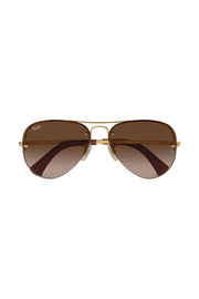 RB3449 in Arista size 59 with w/ brown gradient dark brown Lenses