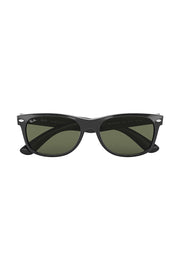 New Wayfarer Classic Low Bridge Fit Black w/ G-15 GREEN NYLON MAN SUNGLASS