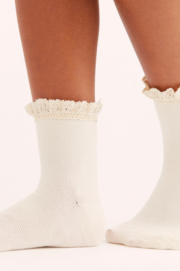 Beloved Waffle Knit Ankle Socks