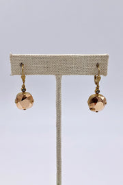 Crystal Dorado Swarovski Crystal Leverback Hanging Stud Earrings
