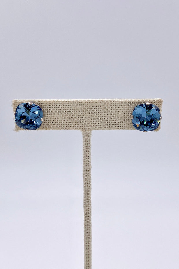 Sapphire Swarovski Crystal Stud Earrings