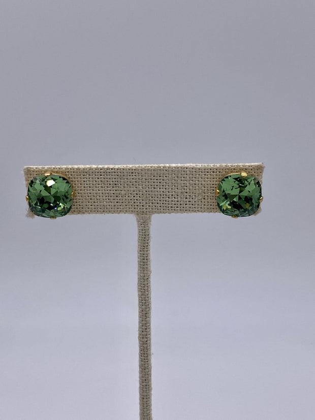 Peridot Swarovski Crystal Stud Earrings