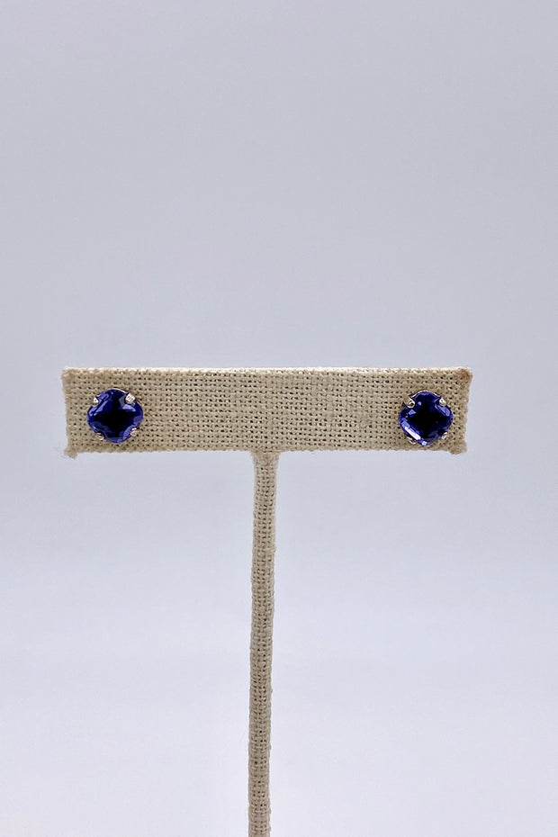 Tanzanite Swarovski Crystal Stud Earrings