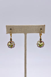 Champagne  Swarovski Crystal Leverback Hanging Stud Earrings