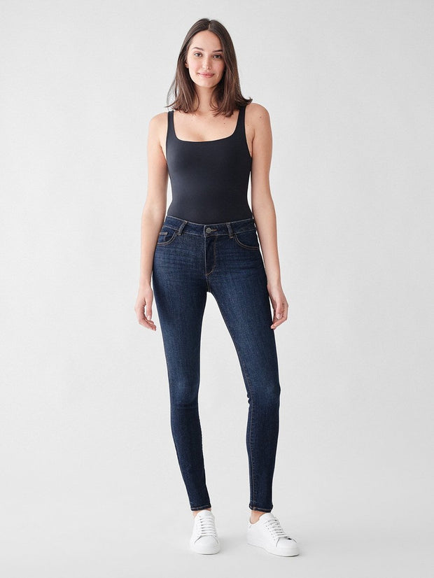 Bottoms-Florence Mid Rise Skinny in Bennet-DL 1961-Blue-Ox-Boutique-