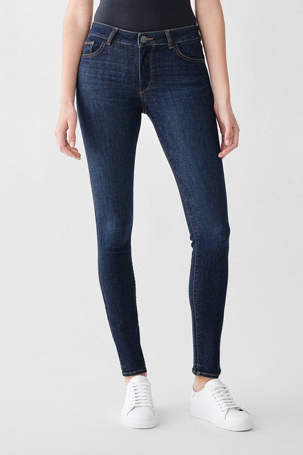 Bottoms-Florence Mid Rise Skinny in Bennet-DL 1961-Blue-Ox-Boutique-Size 24