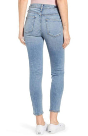 "Bottoms-Rocket Crop High Rise Skinny in ""Deja Vu""-Citizens Of Humanity-Blue-Ox-Boutique-"