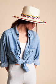 Hats-Joanna Embroidered Hat-Brixton-Blue-Ox-Boutique-