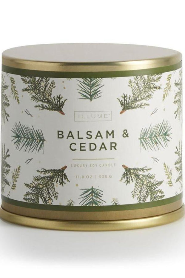 Home-Balsam & Cedar Holiday Vanity Tin-Illume-Blue-Ox-Boutique-