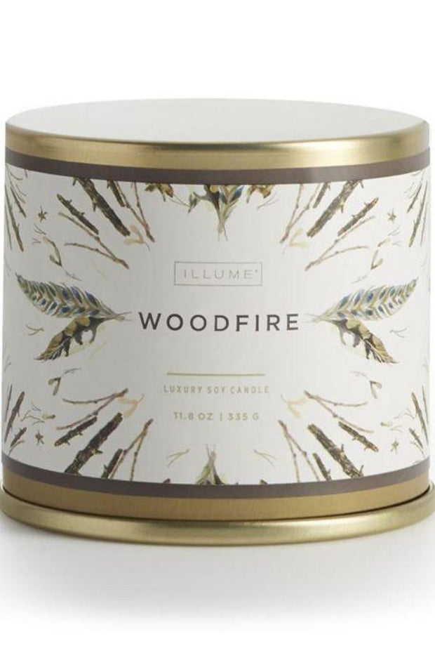 Home-Woodfire Holiday Vanity Tin-Illume-Blue-Ox-Boutique-
