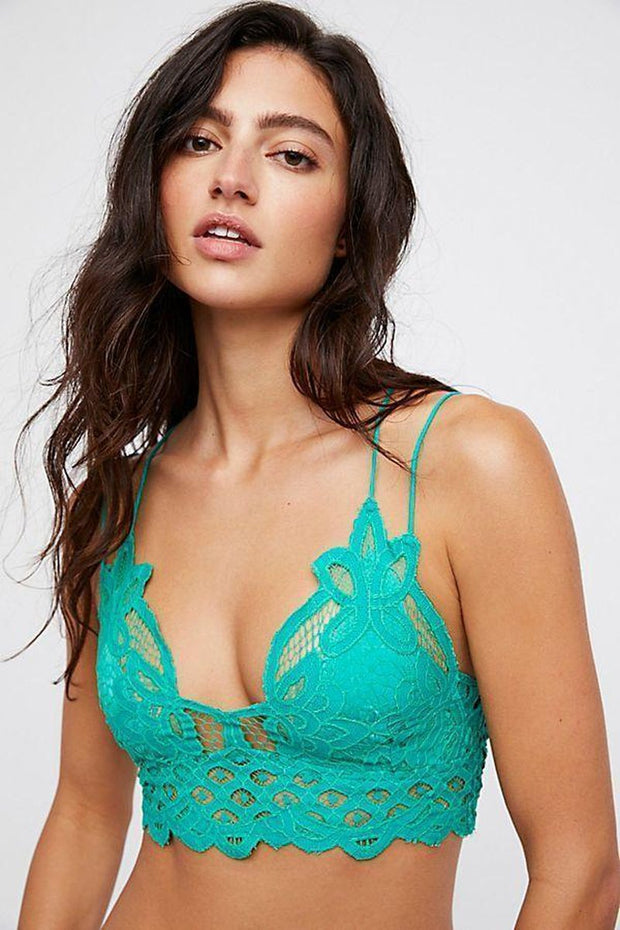 Intimates-Adella Bralette-Free People-Blue-Ox-Boutique-Green Adella