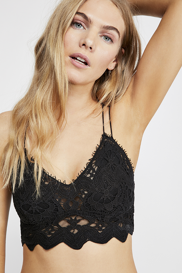 Intimates-Ilektra Bralette-Free People-Blue-Ox-Boutique-Black
