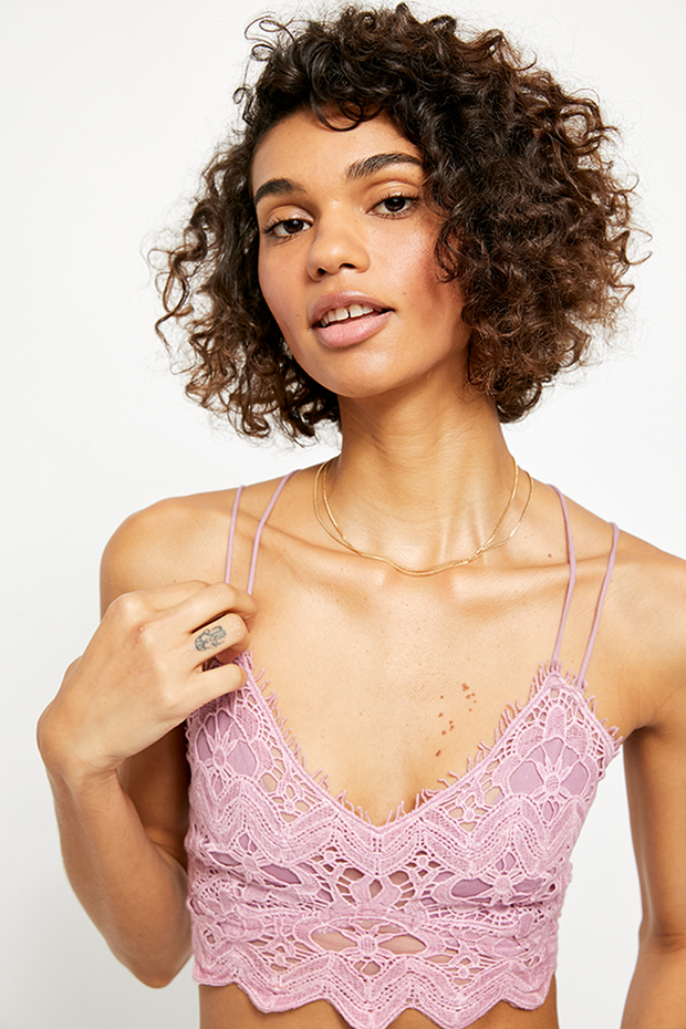 Intimates-Ilektra Bralette-Free People-Blue-Ox-Boutique-Rose