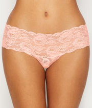 Intimates-Never Say Never Comfie Cutie Thong-Cosabella-Blue-Ox-Boutique-Pink Lily