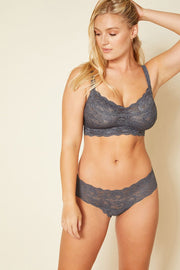 Intimates-Never Say Never Curvy Sweetie Soft Bra-Cosabella-Blue-Ox-Boutique-Anthracite
