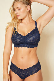 Intimates-Never Say Never Curvy Sweetie Soft Bra-Cosabella-Blue-Ox-Boutique-Navy