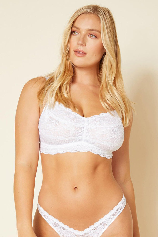 Intimates-Never Say Never Curvy Sweetie Soft Bra-Cosabella-Blue-Ox-Boutique-White