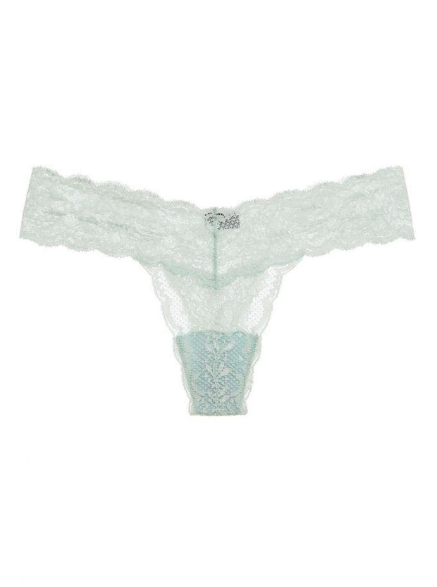 Intimates-Never Say Never Cutie Lace Thong with Bow-Cosabella-Blue-Ox-Boutique-Garden Green