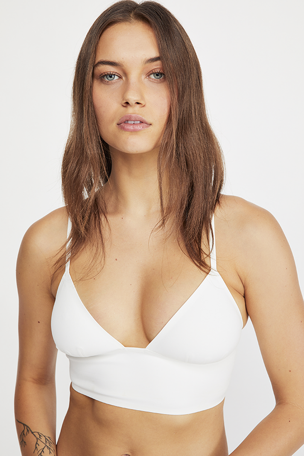 Intimates-Sage Longline Bralette-Free People-Blue-Ox-Boutique-